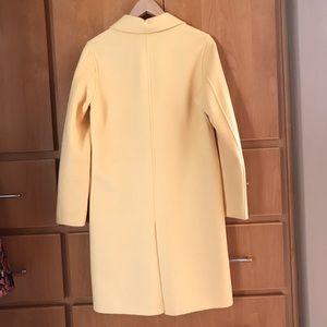 Zara Jackets & Coats - Zara yellow wool coat XS